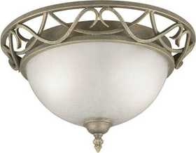 Westinghouse Lighting 67599 Flush Mount Ceiling Light 2-Light Ebony Bronze