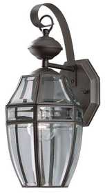 Westinghouse Lighting 66832 Wall Lantern 1-Light Weathered Bronze