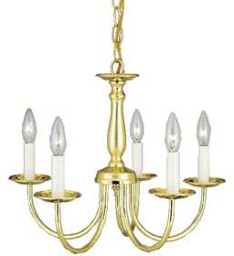 Westinghouse Lighting 66098 Chandelier 5-Light Polished Brass