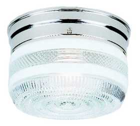Westinghouse Lighting 66239 Ceiling 1-Light Flush Mount Chrome