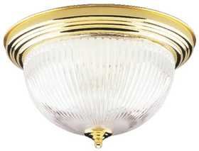 Westinghouse Lighting 66282 Ceiling 2-Light Flush Mount Polished Brass