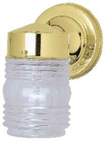 Westinghouse Lighting 66884 Jelly Jar 1-Light Polished Brass