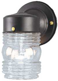 Westinghouse Lighting 66885 Jelly Jar 1-Light Black