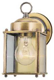 Westinghouse Lighting 66937 Wall Lantern 1-Light Antique Solid Brass
