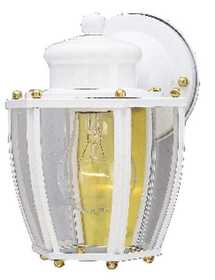 Westinghouse Lighting 66962 Wall Lantern 1-Light White Matte