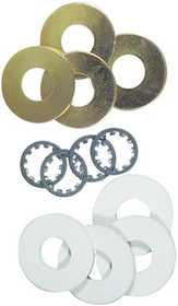 Westinghouse Lighting 7015500 12 Assorted Washers Brass-Plated Steel And Rubber
