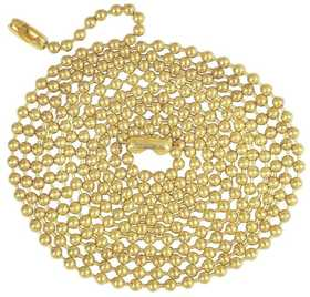 Westinghouse Lighting 7016800 5-Foot Brass Finish Beaded Chain