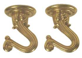 Westinghouse Lighting 7045000 Polished Brass Finish Swag Hooks Pack Of Two