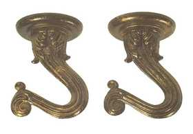 Westinghouse Lighting 7045100 Antique Brass Finish Swag Hooks 2 Pack