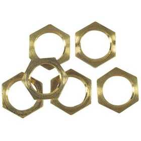 Westinghouse Lighting 70621 Six Solid Brass Hex Nuts