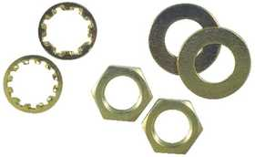Westinghouse Lighting 7062800 Six Assorted Brass-Plated Steel Nuts and Washers