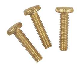 Westinghouse Lighting 7063200 Three Brass-Plated Steel Knurled Head Screws