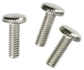 Westinghouse Lighting 7063300 Three Nickel-Plated Steel Knurled Head Screws