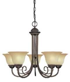 Westinghouse Lighting 66584 Chandelier 5-Light Ebony Bronze