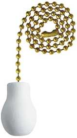 Westinghouse Lighting 7701400 Wooden Knob White Finish Pull Chain