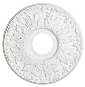 Westinghouse Lighting 7702800 16-Inch Victorian White Finish Ceiling Medallion