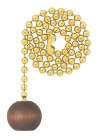 Westinghouse Lighting 7706900 Wooden Ball Walnut Finish Pull Chain