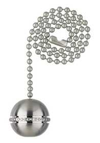 Westinghouse Lighting 7710400 Brushed Nickel Finish Beaded Ball Pull Chain