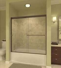 Arizona Shower Door LETET-6057CHRN Frameless Tub Door Ch Rain 60 x 57-3/8