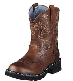 ARIAT INTERNATIONAL, INC 10000860 Women's Fatbaby Saddle Boot Russet Rebel 8.5