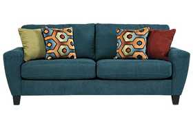 Signature Design By Ashley 9390238 Sagen - Teal Sofa