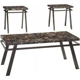 Signature Design By Ashley T126-13 Occasional Table Set Paintsville Bronze Finish