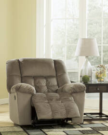Signature Design By Ashley 5150225 Lowell - Chocolate Rocker Recliner