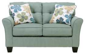 Signature Design By Ashley 6640035 Kylee Loveseat In Lagoon