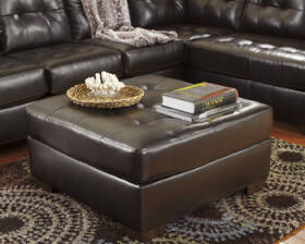 Signature Design By Ashley 2010108 Alliston DuraBlend - Chocolate Oversized Accent Ottoman