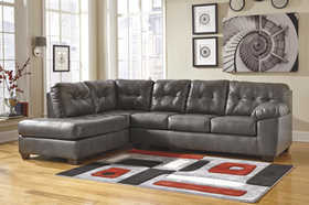 Signature Design By Ashley 2010216/67 Sectional Left Arm Facing Corner Chaise Alliston Durablend Gray