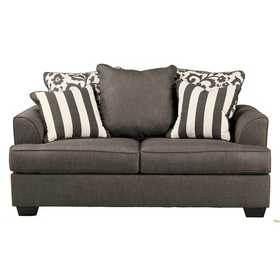 Signature Design By Ashley 7340335 Levon Loveseat In Charcoal