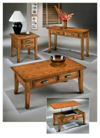 Signature Design By Ashley T214-4 Sofal Table/Casters Drake
