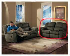 Signature Design By Ashley 8450286 Reclining Loveseat Durapella Olive