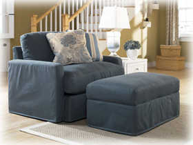 Signature Design By Ashley 7880114 Addison - Slate Ottoman