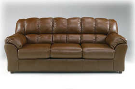 Signature Design By Ashley 9380038 Sofa Dura Blend Chestnut