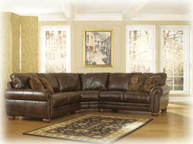 Signature Design By Ashley 2130055/56 Durablend Antique 2 Piece Sectional