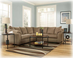 Signature Design By Ashley 7500255/56 Mocha Sectional With Half Wedge