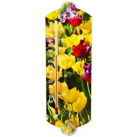 Headwind 840-0049 Indoor/Outdoor Thermometer Flowers 10 in