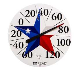 Headwind 840-1238 Dial Thermometer Texas Flag 12.5 in