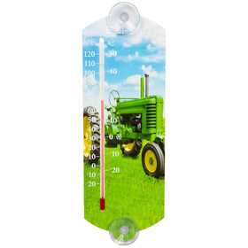 Headwind 840-0045 Indoor/Outdoor Thermometer Green Tractor 10 in