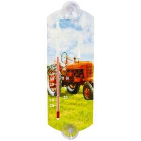 Headwind 840-0046 Indoor/Outdoor Thermometer Red Tractor 10 in