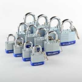 ATE Pro Tools 40227 Padlock Lmnted 30/40/50mm 12pc