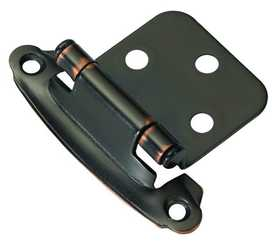 Hickory Hardware P244-OBH Cabinet Hinge Flush Self Closing Oil Rubbed Bronze Highlighted