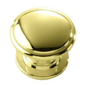 Hickory Hardware P3053-PB Cabinet Knob 11/4 in Dia Polished Brass