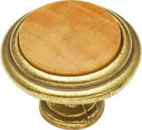 Hickory Hardware P415-OAK Cabinet Knob Oak Center 11/4 in