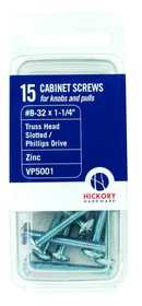 Hickory Hardware VP5001 Screws #8-32x11/4 in 15pc