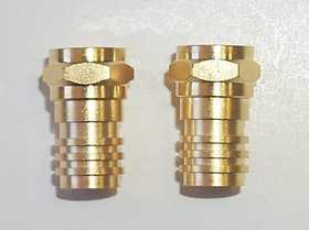 Blackpoint BV-001GOLD F Plugs 75ohm 2 Pack