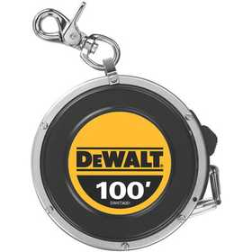 DeWalt DWHT34201 100 Auto Retractable Long Tape