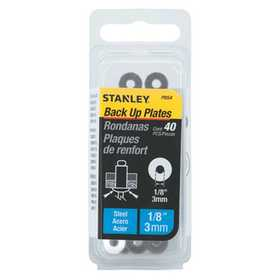 Stanley Tools PBS4 40 Pk 1/7 In Steel Back Up Plates