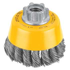 DeWalt DW4910 3 in X 5/8 in -11 Hp .020 Carbon Knot Wire Cup Brush